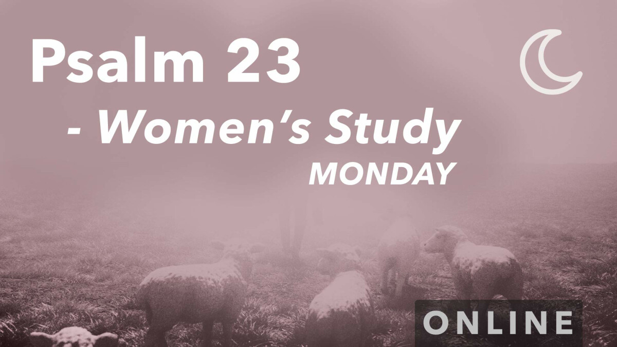 Women's Connection Mini Series: Psalm 23 - Monday Evenings (Online)
