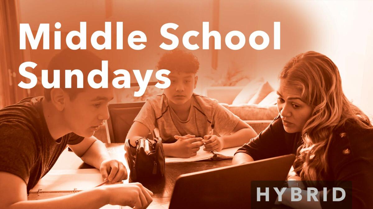 Middle School Sundays